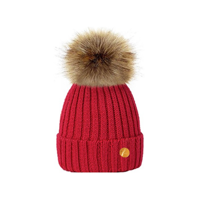 Hortons England Meribel PomPom Hat - Red