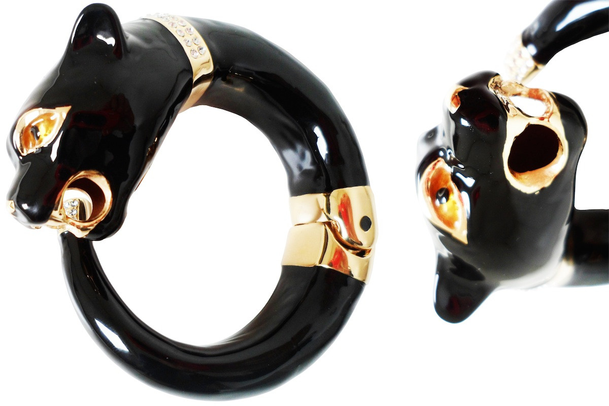 Pasotti Luxury Black Panther Bracelet - Black