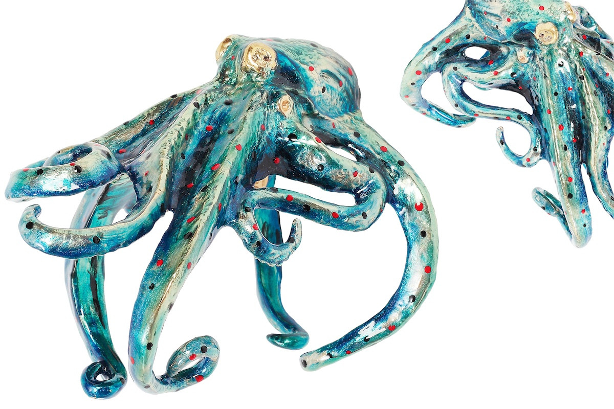 Pasotti Luxury Octopus Bracelet - Blue