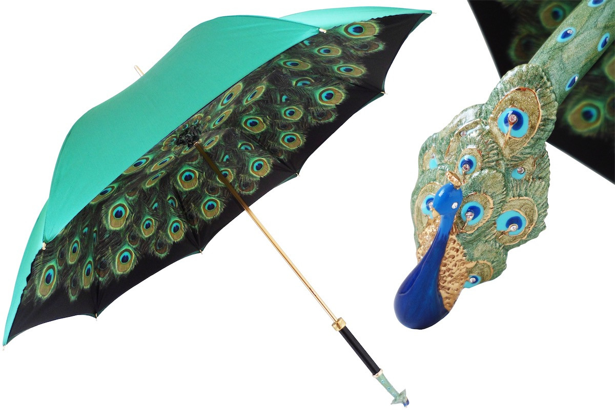 Pasotti Women Luxury Peacock Umbrella