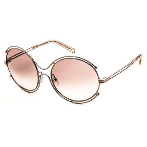 Chloe CE122S 785 - Isidora Rose Gold/Brown Round Sunglasses